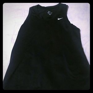 Black sleeveless Nike top